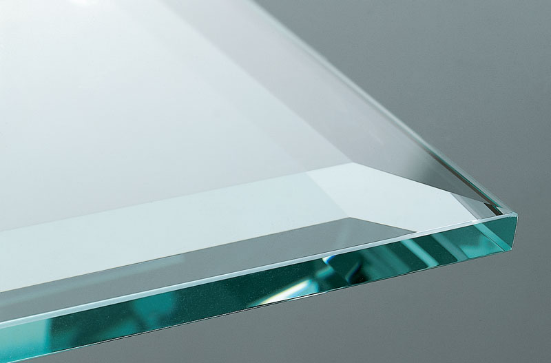 Tempered Glass facette edge, polished